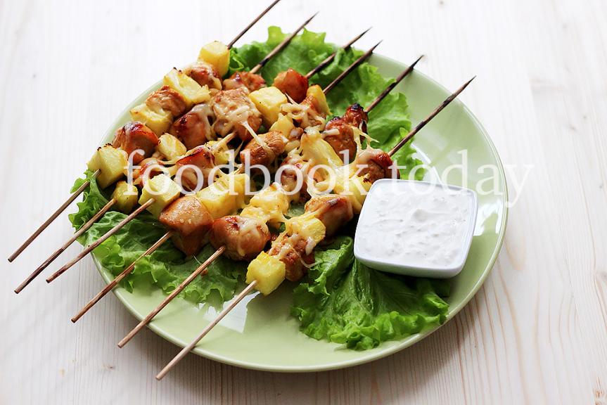 шашлык-куриный-с-ананасом